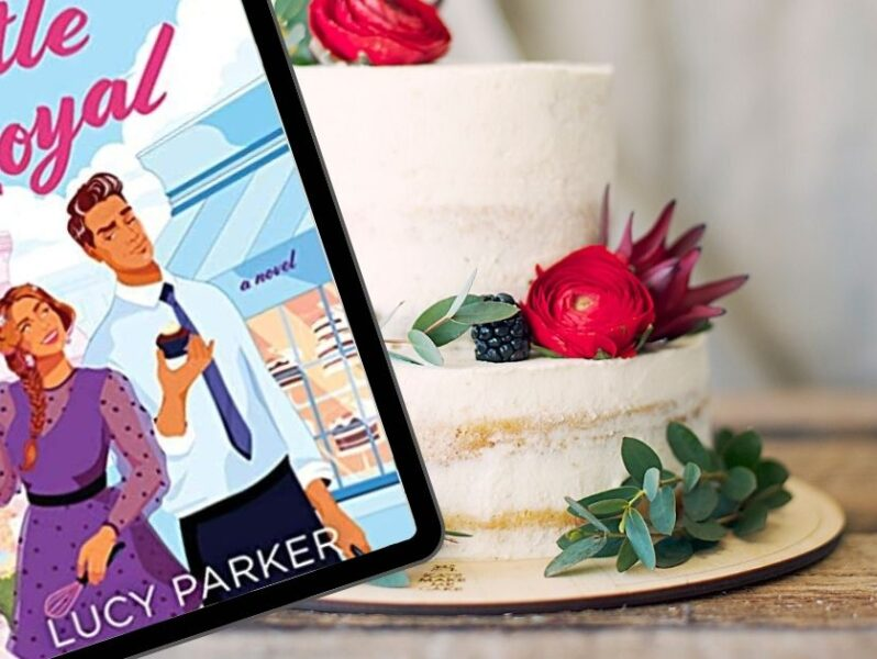 Book Battle Royal in front of a wedding cake